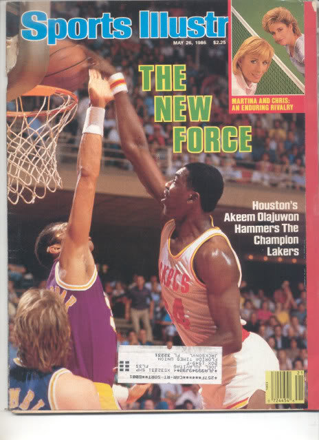 * 1986 SPORTS ILLUSTRATED HOUSTON AKEEM OLAJUWON