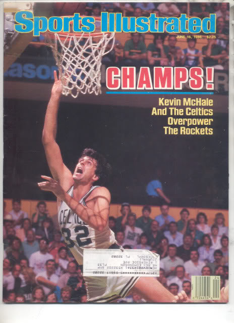 * 1986 SPORTS ILLUSTRATED CELTICS KEVIN MCHALE