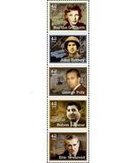 2008 42c American Journalists, Strip of 5 Scott 4248-52 Mint F/VF NH - $4.38
