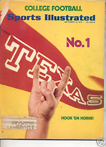 1973 SPORTS ILLUSTRATED TEXAS HOOK EM HORNS NO 1
