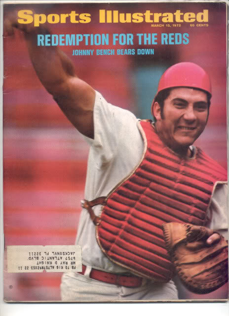 * 1972 SPORTS ILLUSTRATED REDS JOHNNY BENCH