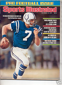 * 1976 SPORTS ILLUSTRATED COLTS BERT JONES NO LABEL