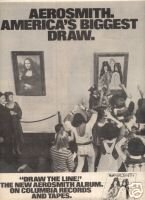 AEROSMITH DRAW THE LINE VINTAGE LP PROMO AD 1978
