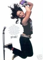 FEFE DOBSON GOT MILK PHOTO AD