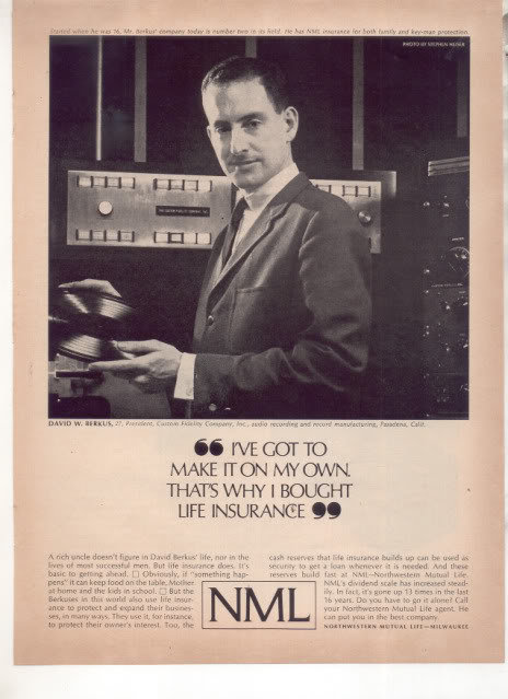 * 1963 NML NORTHWESTERN MUTUAL LIFE INSURANCE PHOTO AD