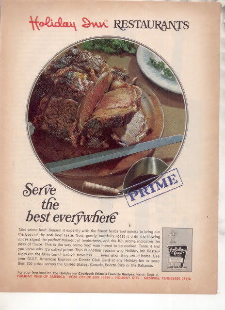 * 1963 HOLIDAY INN RESTAURANTS PHOTO AD