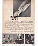 * 1963 CUNARD CRUISE LINE QUEEN MARY QUEEN ELIZABETH AD - $9.99