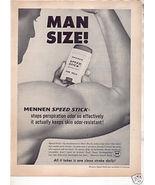 * 1963 MENNEN SPEED STICK DEODORANT PHOTO AD - $7.99