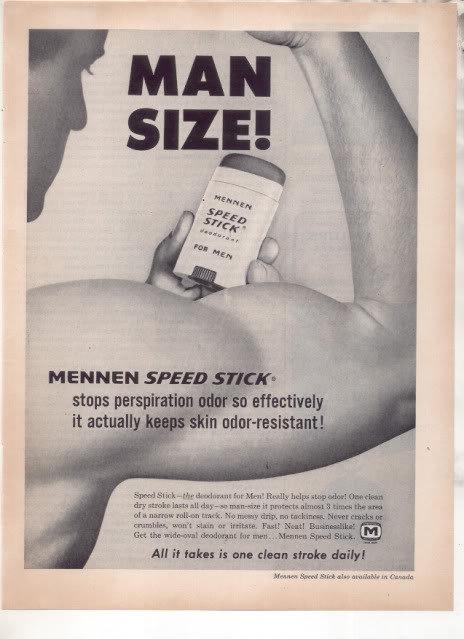 * 1963 MENNEN SPEED STICK DEODORANT PHOTO AD