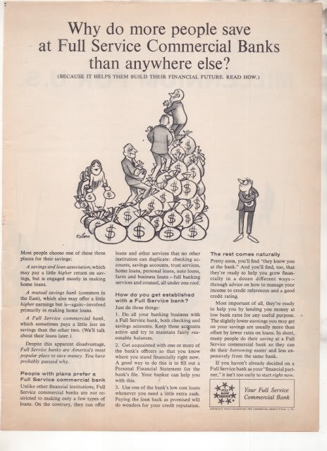 * 1963 FULL SERVICE COMMERCIAL BANK PHOTO AD