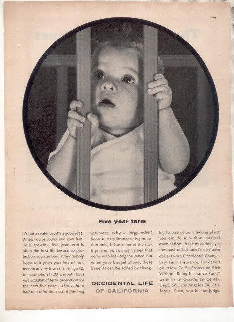 * 1963 OCCIDENTAL LIFE INSURANCE COMPANY PHOTO AD