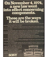 1975 SONY STR-7065 RECEIVER AD - $7.99