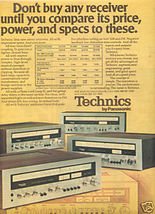 1975 TECHNICS SA-5150 5250 5350 5550 RECEIVER AD - $7.99