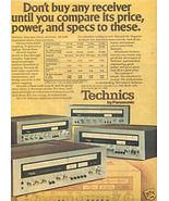 1975 TECHNICS SA-5150 5250 5350 5550 RECEIVER AD - $7.99
