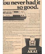 1975 AKAI GXC-39D STEREO CASSETTE DECK AD - $8.99