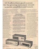1975 LUX LUXMAN C-1000 M-4000 T-310 AMPLIFIER AD - $8.99