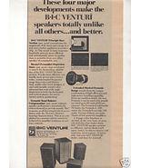1975 BIC VENTURI SPEAKER AD - $7.99