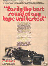 1974 CRAIG POWERPLAY 3139 CAR STEREO AD - $8.99