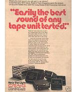 1974 CRAIG POWERPLAY 3139 CAR STEREO AD - $8.99