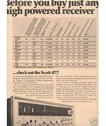 1973 SCOTT 477 STEREO RECEIVER AD - $8.99