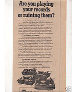 1974 DUAL TURNTABLE AD 1214 1216 1218 1229 - $7.99