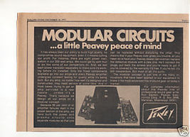 1973 PEAVEY AMPLIFIER AD MODULAR CIRCUITS - $7.99
