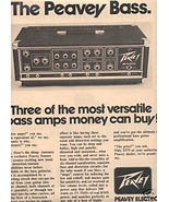 1976 PEAVEY BASS AD - $7.64