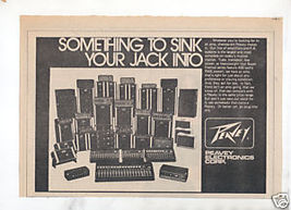 1973 PEAVEY COMPLETE LINE SINK YOUR JACK INTO AD - $7.64