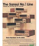 1976 SANSUI AD 221 331 551 661 771 881 - $8.99