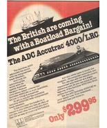 1978 ADC ACCUTRAC 4000/LRC 4000 LRC TURNTABLE AD - $9.99