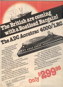 1978 ADC ACCUTRAC 4000/LRC 4000 LRC TURNTABLE AD