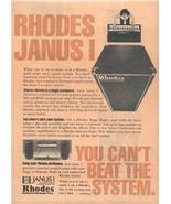 1978 RHODES JANUS I KEYBOARD AMPLIFIER AD - $9.99