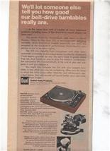 1977 DUAL 510 TURNTABLE AD - $9.99