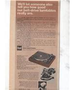 1977 DUAL 510 TURNTABLE AD - $9.99