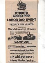 1975 ATLANTA GRAND PRIX ATLANTA RHYTHM SECTION AD - $9.99