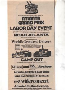 1975 ATLANTA GRAND PRIX ATLANTA RHYTHM SECTION AD