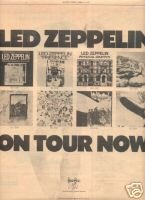 LED ZEPPELIN TOUR FLYER PROMO AD 1977 JIMMY PAGE PLANT