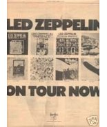 LED ZEPPELIN TOUR FLYER PROMO AD 1977 JIMMY PAGE PLANT - $24.99