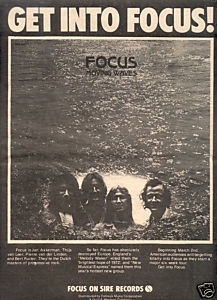 FOCUS MOVING WAVES POSTER TYPE AD 1973