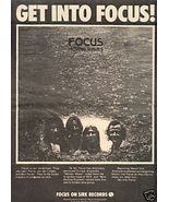 FOCUS MOVING WAVES POSTER TYPE AD 1973 - $9.99