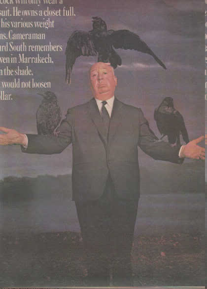 * 1976 ALFRED HITCHCOCK PHOTO PRINT AD