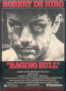 1980 RAGING BULL ROBERT DE NIRO DENIRO MOVIE AD