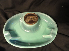 Roseville Green Hyde Park Oval Ashtray No 1950 Coach - $14.99