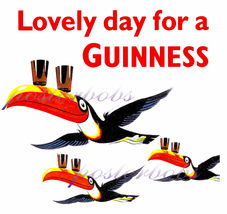 """Lovely Day For A Guinness""  13 x10 inch Giclee CANVAS Advertising Print - $19.95"