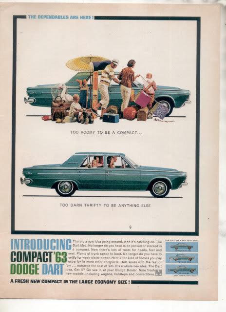 1963 DODGE DART AD