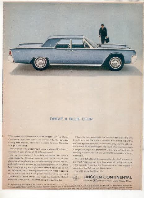 1963 LINCOLN AD