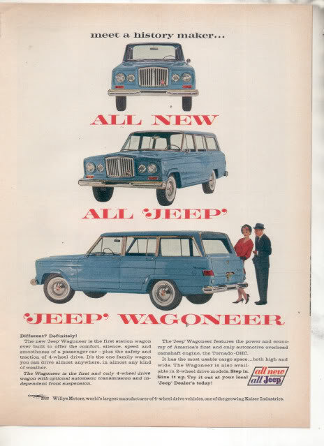 1962 JEEP WAGONEER CAR AD