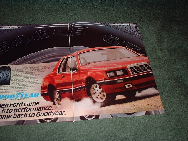1983 1984 FORD THUNDERBIRD GOODYEAR TIRE AD 2-PAGE