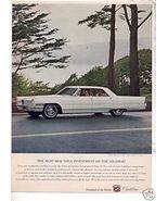 1965 CADILLAC DEVILLE DE VILLE VINTAGE CAR AD - $9.25