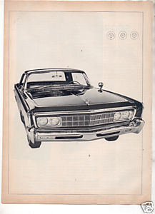 1966 CHRYSLER IMPERIAL VINTAGE CAR AD 2-PAGE